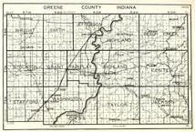 Greene County, Wright, Smith, Jefferson, Highland, Beech Creek, Stockton, Grant, Fairplay, Richland, Indiana State Atlas 1950c