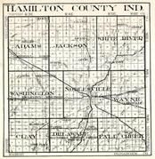 Hamilton County, Adams, Jackson, White River, Washington, Noblesville, Wayne, Clay, Delaware, Fall Creek, Indiana State Atlas 1950c