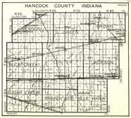 Hancock County, Vernon, Green, Brown, Buck Creek, Maxwell, Center, Sugar Creek, Brandy Wine, Blue River, Indiana State Atlas 1950c