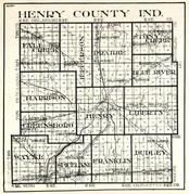 Henry County, Fall Creek, Jefferson, Prairie, Stony Creek, Harrison, Henry, Liberty, Wayne, Spiceland, Dudley, Indiana State Atlas 1950c