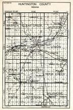 Huntington County, Warren, Clear Creek, Jackson, Dallas, Union, Polk, Lancaster, Rock Creek, Wayne, Salamonie, Jefferson, Indiana State Atlas 1950c