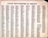 Indiana Cities and Counties, Indiana State Atlas 1950c