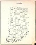 Indiana State Map, Indiana State Atlas 1950c