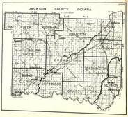 Jackson County, Salt Creek, Pershing, Hamilton, Redding, Owen, Brownstown, Carr, Driftwood, Grassy Fork, Indiana State Atlas 1950c