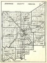 Jennings County, Geneva, Sand Creek, Columbia, spencer, Center, Campbell, Vernon, Marion, Lovett, Montgomery, Indiana State Atlas 1950c