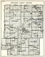 Kosciusko County, Scott, Jefferson, Van Buren, Turkey Creek, Etna, Tippecanoe, Wayne, Clay, Monroe, Indiana State Atlas 1950c
