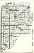 La Porte Township, Michigan, Springfield, Galena, Hudson, Cool Spring, Wills, New Durham, Scipio, Pleasant, Noble, Dewey, Indiana State Atlas 1950c