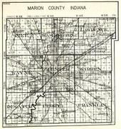 Marion County, Pike, Washington, Lawrence, Wayne, Center, Indianapolis, Warren, Decatur, Perry, Franklin, Indiana State Atlas 1950c