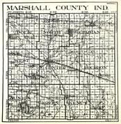 Marshall County, Polk, German, North, West, Bourbon, Union, Green, Walnut, Tippecanoe, Culver, Inwood, Plymouth, Indiana State Atlas 1950c