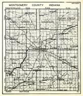 Montgomery County, Coal Creek, Madison, Sugar Creek, Wayne, Union, Franklin, Ripley, Walnut, Brown, Scott, Clark, Indiana State Atlas 1950c