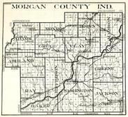 Morgan County, Adams, Monroe, Brown, Madison, Gregg, Clay, Ashland, Ray, Baker, Washington, Greene, Jackson, Indiana State Atlas 1950c