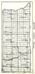 Newton County, Lake, Lincoln, McClellan, Colfax, Beaver, Jackson, Washington, Iroquois, Jefferson, Grant, Indiana State Atlas 1950c