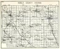 Noble County, Perry, Elkhart, Orange, Wayne, Sparta, York, Jefferson, Allen, Washington, Noble, Green, Swan, Indiana State Atlas 1950c