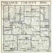 Orange County, North West, Orangeville, Orleans, North East, French Lick, Paoli, Stampers Creek, Jackson, Greenfield, Indiana State Atlas 1950c