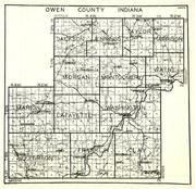 Owen County, Jackson, Jennings, Taylor, Harrison, Morgan, Montgomery, Wayne, Marion, Lafayette, Washington, Jefferson, Indiana State Atlas 1950c