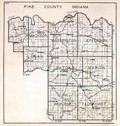 Pike County, Clay, Madison, Washington, Jefferson, Logan, Patoka, Marion, Monroe, Lockhart, Stendal, Spurgeon, Arthur, Indiana State Atlas 1950c