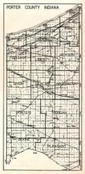Porter County, Westchester, Pine, Portage, Liberty, Jackson, Union, Center, Washington, Porter, Morgan, Boone, Pleasant, Indiana State Atlas 1950c