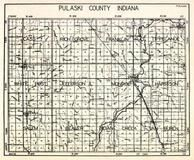 Pulaski County, Cass, Rich Grove, Franklin, Tippecanoe, White Post, Jefferson, Monroe, Harrison, Salem, Beaver, Indiana State Atlas 1950c