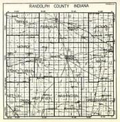Randolph County, Green, Franklin, Ward, Jackson, Monroe, Stoney Creek, White River, Wayne, Nettle Creek, West River, Indiana State Atlas 1950c