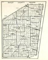 Ripley County, Laughery, Adams, Jackson, Delaware, Franklin, Otter Creek, Johnson, Washington, Shelby, Brown, Springdale, Indiana State Atlas 1950c