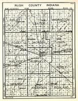 Rush County, Ripley, Center, Washington, Posey, Jackson, Union, Walker, Rushville, Noble, Orange, Anderson, Richland, Indiana State Atlas 1950c