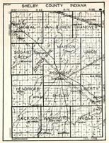 Shelby County, Moral, Van Buren, Hanover, Sugar Creek, Brandy Wine, Marion, Union, Addison, Hendricks, Shelby, Liberty, Indiana State Atlas 1950c