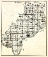 Spencer County, Harrison, Carter, Jackson, Clay, Huff, Grass, Hammmond, Ohio, Luce, Bloomvfield, Centerville, Indiana State Atlas 1950c