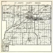 St. Joseph County, Olive, German, Clay, Harris, Warren, Portage, Penn, Greene, Center, Liberty, Union, Madison, Lincoln, Indiana State Atlas 1950c