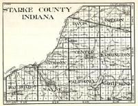Starke County, Davis, Oregon, Jackson, Center, Washington, Railroad, Wayne, California, North Bend, Winona, Ober, Indiana State Atlas 1950c