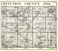 Steuben County, Mill Grove, Jamestown, Fremont, Clear Lake, Jackson, Pleasant, Scott, York, Salem, Steuben, Otsego, Indiana State Atlas 1950c