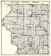 Sullivan County, Fairbanks, Curry, Jackson, Turman, Hamilton, Cass, Haddon, Jefferson, Lebanon, Riverton, Standard, Indiana State Atlas 1950c