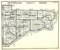 Switzerland County, Pleasant, Cotton, Posey, Craig, Jefferson, York, Jacksonville, Bennington, Fairview, , Indiana State Atlas 1950c