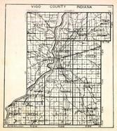 Vigo County, Fayette, Otter Creek, Nevins, Sugar Creek, Lost Creek, Prairieton, Honey Creek, Riley, Prairie Creek, Linton, Indiana State Atlas 1950c