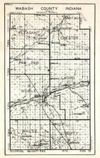 Wabash County, Pleasant, Chester, Paw Paw, Lagro, Noble, Waltz, Liverty, La Fontaine, Mt. Vernon, Red Bridge, Somerset, Indiana State Atlas 1950c