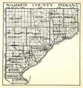 Warresn County, Prairie, Pine, Adams, Medina, Jordan, Liberty, Warren, Steuben, Pike, Washington, Kent, Mound, Indiana State Atlas 1950c