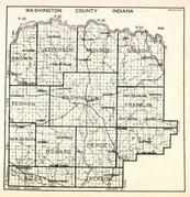 Washington County, Brown, Jefferson, Monroe, Gibson, Vernon, Washington, Franklin, Madison, Howard, Pierce, Plk, Posey, Indiana State Atlas 1950c
