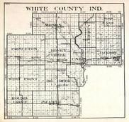 White County, Monon, Liberty, Princeton, Honey Creek, Union, Jackson, West Point, Big Creek, Round Grove, Prairie, Indiana State Atlas 1950c