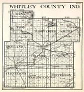 Whitley County, Etna, Troy, Thorn Creek, Smith, Richland, Cleveland, Columbia, Union, Washington, Jefferson, Indiana State Atlas 1950c