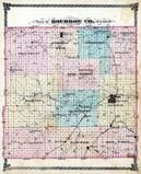 Bourbon County Outline Map, Bourbon County 1878