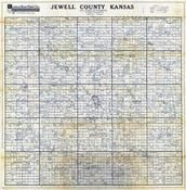 Jewell County Map, Jewell County 1950c Map