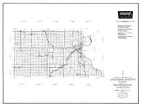 Atchison County, Effingham, Huron, Kennekuk, Potter, Oak Mills, Farmington, Cummings, Kansas State Atlas 1958 County Highway Maps