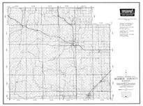 Barber County, Medicine Lodge, Sharon, Sun City, Isabel, Hardner, Kiowa, Hazelton, Kansas State Atlas 1958 County Highway Maps