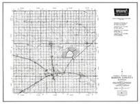 Barton County, Great Bend, Cheyenne Bottoms, Dundee, Pawnee Rock, Ellinwood, Albert, Hoisington, Galatia, Kansas State Atlas 1958 County Highway Maps