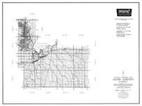 Geary County, Junction City, Fort Riley, Grandview Plaza, Milford, Marshall Air Field, Kansas Falls, Kansas State Atlas 1958 County Highway Maps