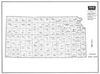 Index Map, Kansas State Atlas 1958 County Highway Maps