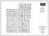 Jackson County, Holton, Whiting, Della, Hoyt, Soldier, Kansas State Atlas 1958 County Highway Maps