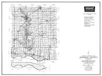 Jefferson County, Ozawkie, Lake Ridge, Indian ridge, Meriden, McLouth, Williamstown, Perry, Thompsonville, Newman, Medina, Oskaloosa, Kansas State Atlas 1958 County Highway Maps