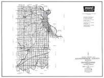 Leavenworth County, Basemor, Lansing, Sherman Air Field, Springdale, Tonganoxie, Easton, Millwood, Kansas State Atlas 1958 County Highway Maps