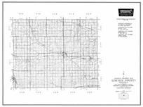 Lincoln County, Beverly, Junista, Sylvan Grove, Barnard, Denmark, Kansas State Atlas 1958 County Highway Maps