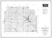Morris County, Council Grove, Dunlap, Burdick, Wilsey, Delayan, Herington, Latimer, White City, Kansas State Atlas 1958 County Highway Maps